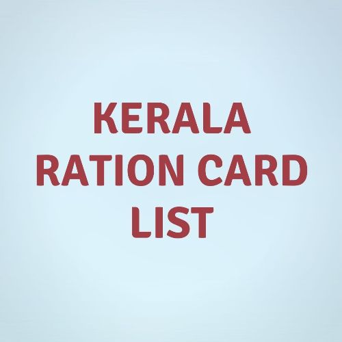 Kerala Ration Card List